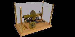 Действующая миниатюрная копия пулемета Максим